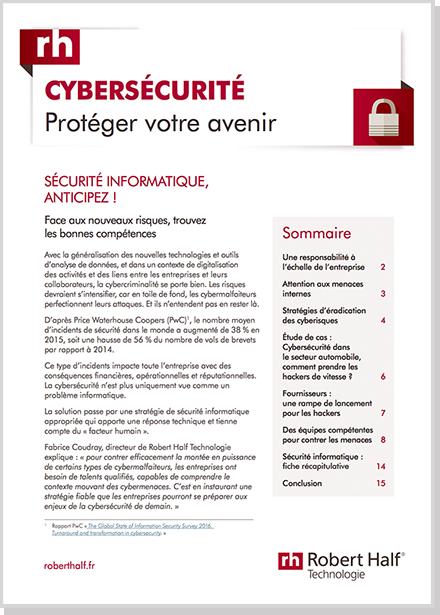 Cyber s curit robert half cabinet de recrutement - Cabinet recrutement specialise expatriation ...